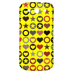 Heart Circle Star Seamless Pattern Samsung Galaxy S3 S Iii Classic Hardshell Back Case