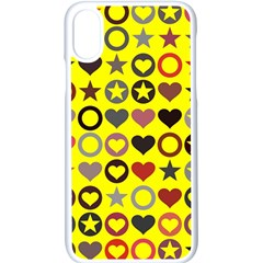 Heart Circle Star Seamless Pattern Apple Iphone X Seamless Case (white) by Jojostore