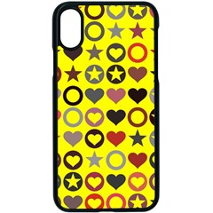 Heart Circle Star Seamless Pattern Apple Iphone X Seamless Case (black) by Jojostore