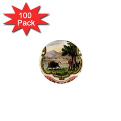 Historical Coat Of Arms Of Indiana 1  Mini Magnets (100 Pack)  by abbeyz71