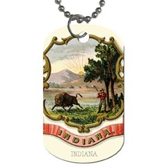 Historical Coat Of Arms Of Indiana Dog Tag (one Side)