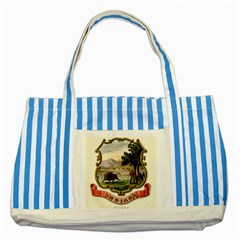 Historical Coat Of Arms Of Indiana Striped Blue Tote Bag