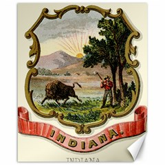 Historical Coat Of Arms Of Indiana Canvas 16  X 20