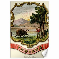 Historical Coat Of Arms Of Indiana Canvas 24  X 36