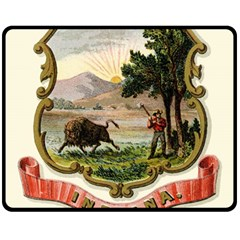 Historical Coat Of Arms Of Indiana Fleece Blanket (medium)