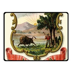 Historical Coat Of Arms Of Indiana Fleece Blanket (small)