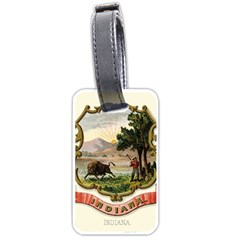 Historical Coat Of Arms Of Indiana Luggage Tags (two Sides)