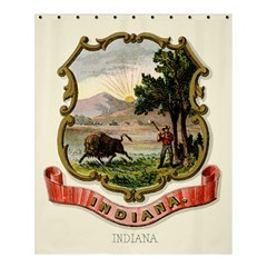 Historical Coat Of Arms Of Indiana Shower Curtain 60  X 72  (medium)  by abbeyz71