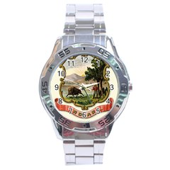 Historical Coat Of Arms Of Indiana Stainless Steel Analogue Watch