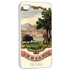 Historical Coat Of Arms Of Indiana Apple Iphone 4/4s Seamless Case (white)