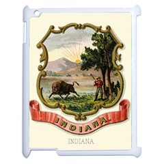 Historical Coat Of Arms Of Indiana Apple Ipad 2 Case (white)