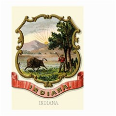 Historical Coat Of Arms Of Indiana Small Garden Flag (two Sides)