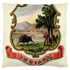 Historical Coat Of Arms Of Indiana Large Cushion Case (one Side)
