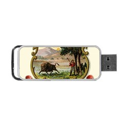 Historical Coat Of Arms Of Indiana Portable Usb Flash (two Sides)