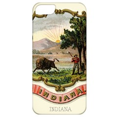 Historical Coat Of Arms Of Indiana Apple Iphone 5 Classic Hardshell Case