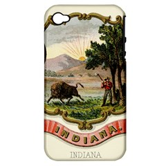 Historical Coat Of Arms Of Indiana Apple Iphone 4/4s Hardshell Case (pc+silicone)
