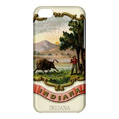Historical Coat Of Arms Of Indiana Apple Iphone 5c Hardshell Case