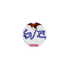 Flag Map Of Iowa 1  Mini Buttons