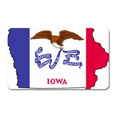Flag Map Of Iowa Magnet (rectangular)