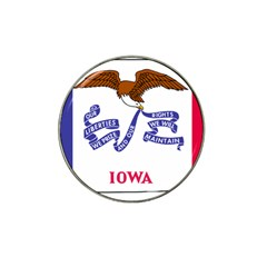 Flag Map Of Iowa Hat Clip Ball Marker