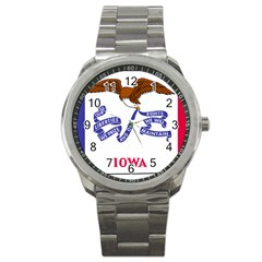 Flag Map Of Iowa Sport Metal Watch by abbeyz71