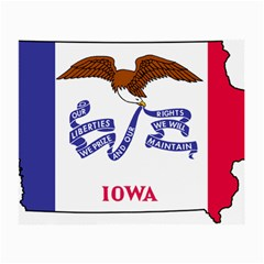 Flag Map Of Iowa Small Glasses Cloth (2 Side) by abbeyz71