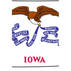Flag Map Of Iowa 5 5  X 8 5  Notebook by abbeyz71