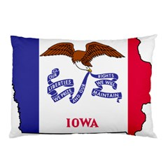 Flag Map Of Iowa Pillow Case (two Sides) by abbeyz71