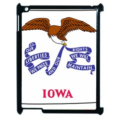 Flag Map Of Iowa Apple Ipad 2 Case (black) by abbeyz71