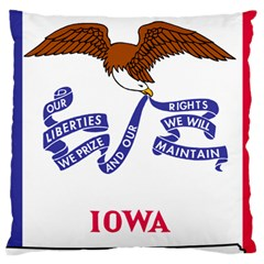 Flag Map Of Iowa Large Cushion Case (two Sides) by abbeyz71
