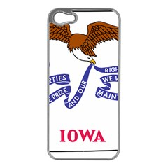 Flag Map Of Iowa Apple Iphone 5 Case (silver)