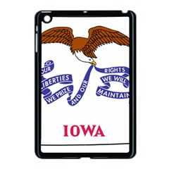 Flag Map Of Iowa Apple Ipad Mini Case (black) by abbeyz71