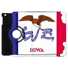 Flag Map Of Iowa Apple Ipad Mini Flip 360 Case by abbeyz71