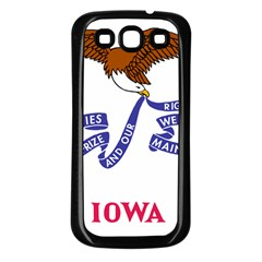 Flag Map Of Iowa Samsung Galaxy S3 Back Case (black) by abbeyz71