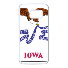 Flag Map Of Iowa Samsung Galaxy S7 White Seamless Case by abbeyz71
