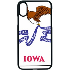 Flag Map Of Iowa Apple Iphone X Seamless Case (black)