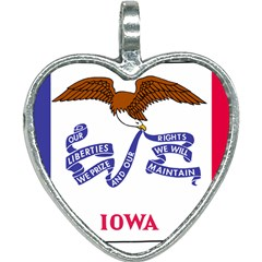 Flag Map Of Iowa Heart Necklace by abbeyz71