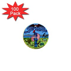 Great Seal Of Iowa 1  Mini Buttons (100 Pack)  by abbeyz71