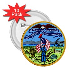 Great Seal Of Iowa 2 25  Buttons (10 Pack)