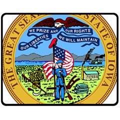 Great Seal Of Iowa Fleece Blanket (medium)