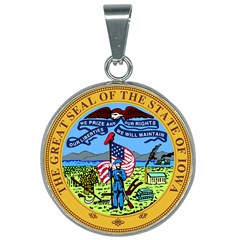 Great Seal Of Iowa 25mm Round Necklace by abbeyz71