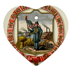 Historical Coat Of Arms Of Iowa Ornament (heart) by abbeyz71