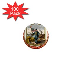 Historical Coat Of Arms Of Iowa 1  Mini Magnets (100 Pack)  by abbeyz71