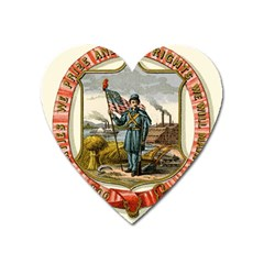 Historical Coat Of Arms Of Iowa Heart Magnet by abbeyz71