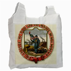 Historical Coat Of Arms Of Iowa Recycle Bag (one Side) by abbeyz71