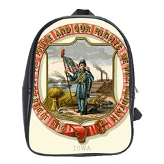 Historical Coat Of Arms Of Iowa School Bag (large)
