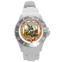 Historical Coat Of Arms Of Iowa Round Plastic Sport Watch (l)