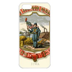 Historical Coat Of Arms Of Iowa Apple Iphone 5 Seamless Case (white) by abbeyz71
