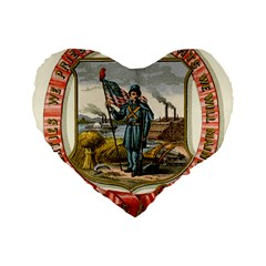 Historical Coat Of Arms Of Iowa Standard 16  Premium Flano Heart Shape Cushions by abbeyz71