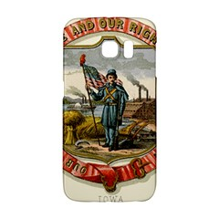 Historical Coat Of Arms Of Iowa Samsung Galaxy S6 Edge Hardshell Case by abbeyz71